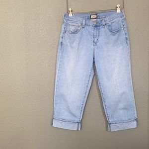 Levi's 515 Blue Capri Vintage Jeans Size 6